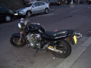 my black susuki motorbike