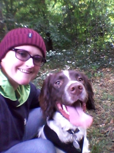 Buster and me in the woods